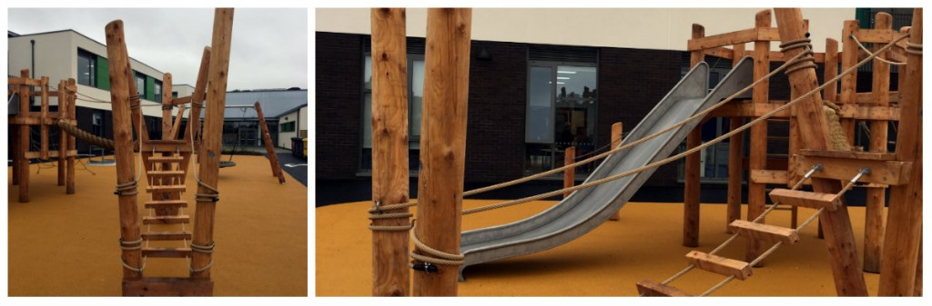 Courtyard play space at Castle Tower, Ballymena